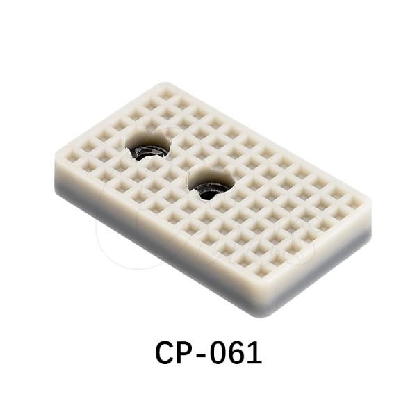 微型气缸用挡板-方型-白色2个孔